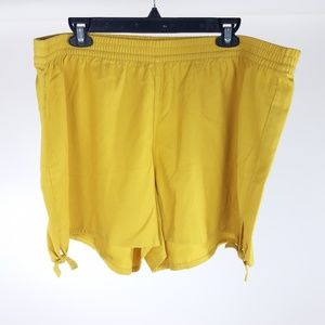 NEW Madewell Yellow Gold Side Tie Shorts